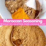 Moroccan seasoning in bowl with spoon