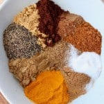 Image of spices in bowl with text overlay