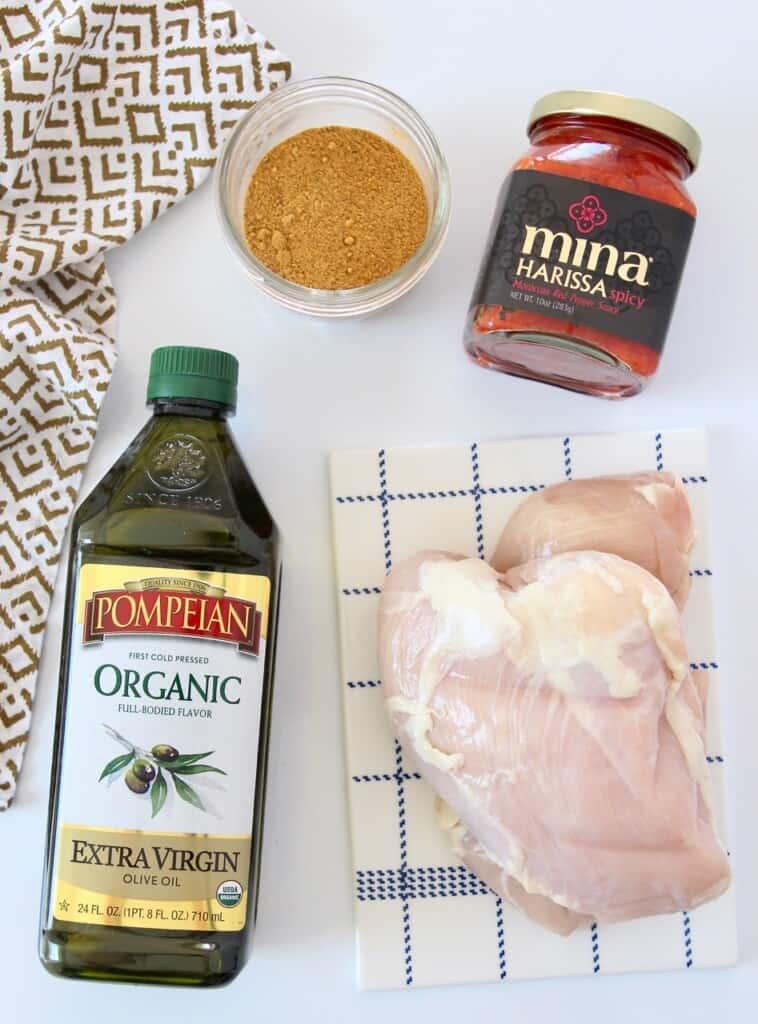 ingredients for harissa chicken