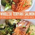 teriyaki glazed salmon in bowl with vegetables
