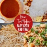 collage of images showing how to make pad thai