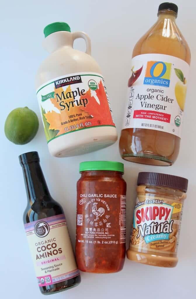 ingredients for Thai peanut sauce