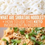 raw shirataki noodles and cooked in pad thai
