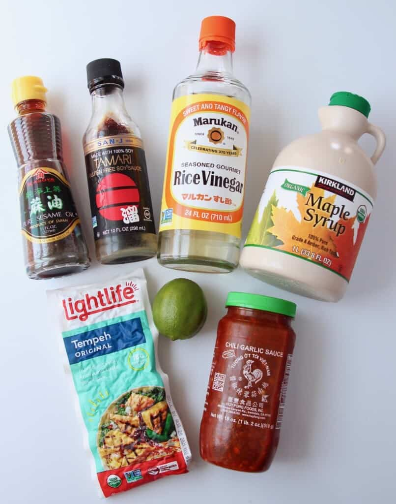 Asian tempeh marinade ingredients