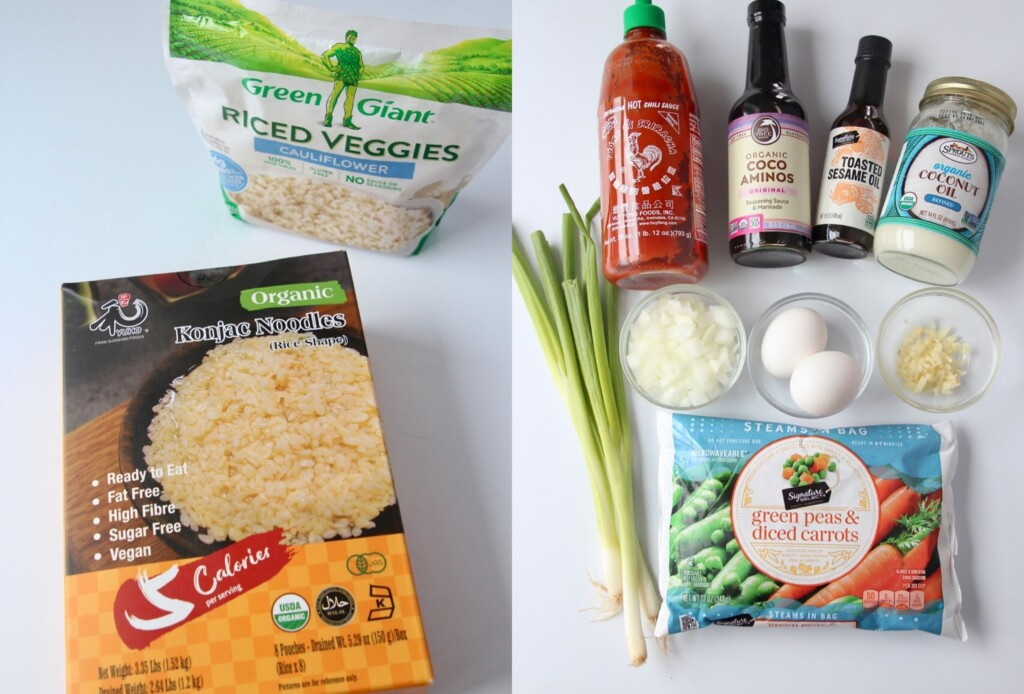 ingredients for keto fried rice